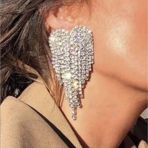 Jewelry - Rhinestone bridal/party/club drop fashion earrings